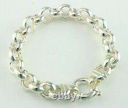Sterling Silver Chunky Rolo Belcher Bracelet 925 Sterling Silver 8