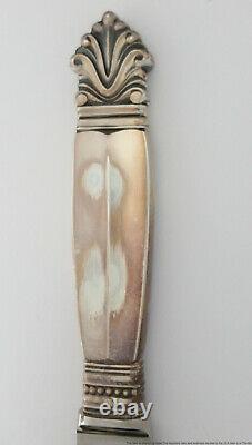 Sterling Silver Georg Jensen Acanthus Denmark Flatware Service for 8 60 Pieces