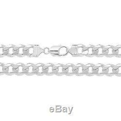 Sterling Silver Men's heavy Curb Bracelet Solid Sterling Silver 925