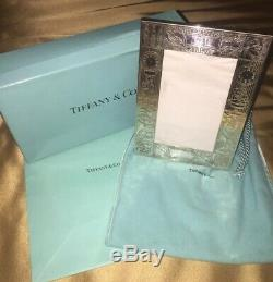 TIFFANY & Co. Sterling Silver Childs Birth Record Frame NWT Perfect Gift Newborn