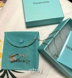 Tiffany & Co. 1837 Lock Pendant Necklace Sterling Silver 925 DHL