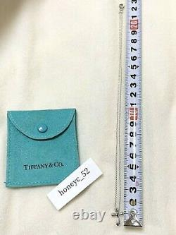 Tiffany & Co. Elsa Peretti Cross Sterling Silver 925 Necklace Pendant withPorch