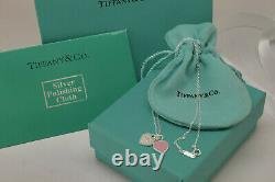 Tiffany & Co. Heart necklace Solid Sterling Silver. Length Heart