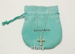 Tiffany & Co. Small Cross Elsa Peretti Necklace Pendant Sterling Silver