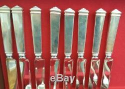 Tiffany & Co Sterling Silver 87 pieces HAMPTON pattern flatware set for 8