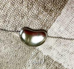 Tiffany & Co. Sterling Silver 925 Large Bean 20mm Pendant 16 Necklace NO BOX