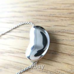 Tiffany & Co. Sterling Silver 925 Large Bean 20mm Pendant Necklace NO BOX JP