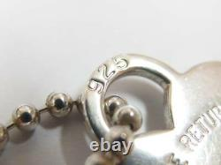 Tiffany & Co. Sterling Silver Return to Tiffany Heart Tag Ball Chain Necklace