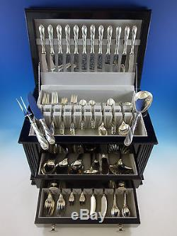 Torchon by Buccellati Sterling Silver Flatware Set for 12 Service 130 pcs Dinner