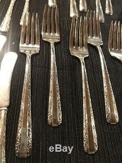Towle 1934 Candlelight Sterling Silver Flatware Service for 12 No monogram