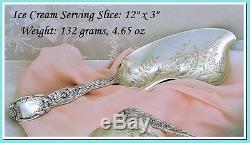 Two Week Sale! TIFFANY Antique Sterling Silver Ice Cream Service Chrysanthemum
