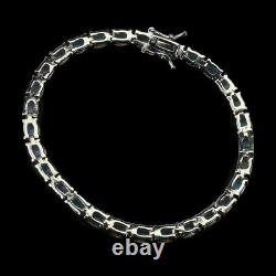 Unheated Oval Fire Opal Rainbow Full Flash 6x4mm 925 Sterling Silver Bracelet