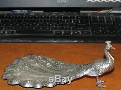 VINTAGE Durgin Peacock Sterling Silver 9 1/2 Bon Bon Dish c 1920 BEAUT