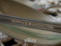 Vintage 8 Sterling Silver Teaspoons & Soup Spoons Rose Point Elegant Flatware