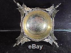Vintage Silver Unknown Maker BUTTERFLY FOOTED SALT CELLAR