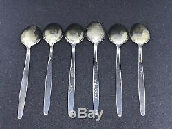 Vintage Sterling Silver 925s David Andersen Norway Enamel Demitasse 6 Spoons Lot