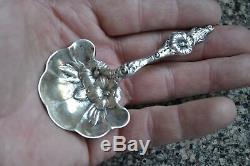 Vintage Whiting Sterling Silver Bon Bon Spoon Hibiscus Art Nouveau 1901