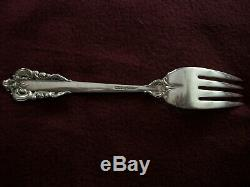 Vtg WALLACE GRANDE BAROQUE. 925 STERLING SILVER FLATWARE One 4 PC Place Setting