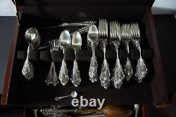 Wallace Grand Baroque sterling silver flatware set 110pc