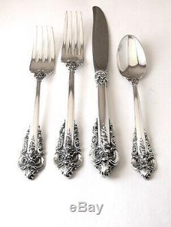Wallace Grande Baroque flatware Sterling 925 Silver 4 PC Place Setting No Mono