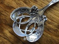 Wallace RW&S Sterling Silver Violet floral Bon Nut Tea Strainer Spoon Scoop