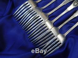 Wallace Rose Point Sterling Silver Dinner Forks & Soup Spoons