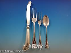 Williamsburg Shell by Stieff Sterling Silver Dinner Flatware Set Service 32 Pcs