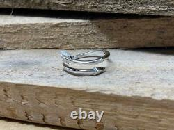 Womens Spacial Arrow Toe Ring Sterling Silver 14k White Gold Over Beach Wear