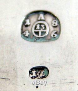 171 Ans. Argent Antique 1847 Old Austrian Sterling Ménagère Pieces Insolite