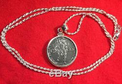 1940 Vatican St Michel Archange Argent Wwii Monnaie Sterling Collier