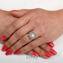 1.35 Ct Art Déco Round Cut Antique Vintage Engagement Ring 925 Sterling Silver