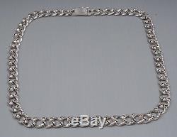 20 95g Biker Rocker Skull Trottoir Chain 925 Argent Sterling Mens Pre Collier