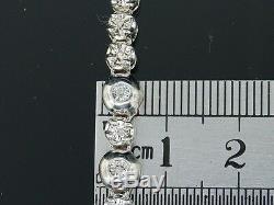 2,0 Ct. Tw Diamond 1 Ligne Rosaire Hommes Chaîne En Argent Sterling En Or Blanc 34 Terminer