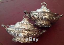 2 Gorres Chanteuses Grand Sterling Rare Gorham Chantilly 72 Troy Oz