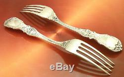 2 Grands 8 Francis I 1ère Dinner Taille Argent Fourchette Reed Barton Post-1940