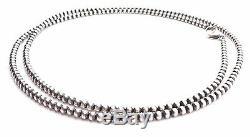 30 Perles Navajo En Argent Sterling 4mm Collier De Perles