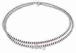 36 Perles Navajo En Argent Sterling 4mm Collier De Perles