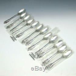 60 Pc Wallace Grande Baroque Sterling Silver Flatware Service Set Pour 12