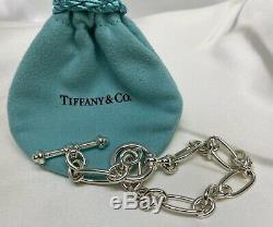 650 $ Tiffany & Co Paloma Picasso Argent 925 Groove Lien Bracelet À Breloque