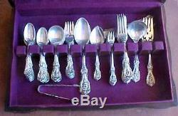 71pc Ancien Marque & Barton Reed Francis I 1907 Sterling Set Couverts Withservers