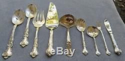 79 Pc Set Pour 12, Reed & Barton Argent Sterling Savannah Flatware Withserving & Box
