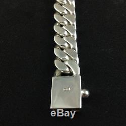 7.5 Heavy Grosse Biker Cuban Trottoir Chain 925 Silver Mens Bracelet