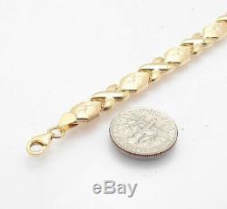 7 Étreintes Et Baisers Xoxo Bracelet En Or Jaune 10k Clad Réel Argent 925