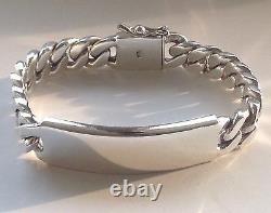 8.5 90g Bracelet Heavy Biker Sterling Link 925