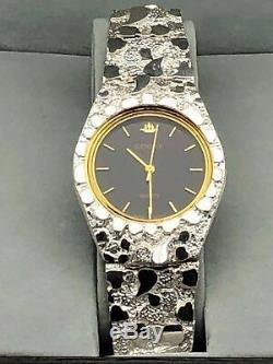 925 Silver Nugget Montre-bracelet Avec Geneve Montre 8 Diplômé Band