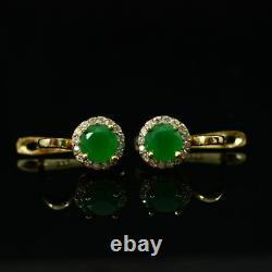 925 Sterling Silver Handmade Authentic Turkish Vintage Style Emerald Ladies Set