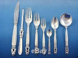 Acorn By Georg Jensen Service De Couverts En Argent Sterling Pour Service De Table 101 Pièces