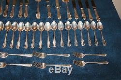 Anglais Gadroon Par Gorham Sterling Silver Set De 50 Pièces Vers 1943