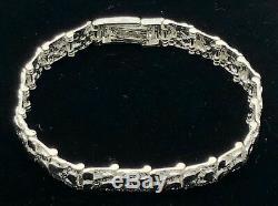 Argent 925 Massif Nugget Bracelet Réglable 8 9.5mm 21,2 Grammes