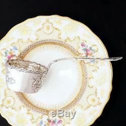 Argent Antique Art Nouveau Français Sterling Tea Passoire Motif Thistle